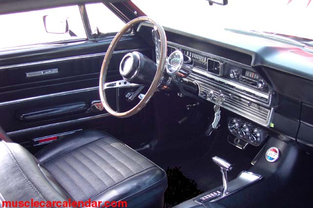 1967 Ford Fairlane GTA 390 Interior Moon Gauges Select Shift