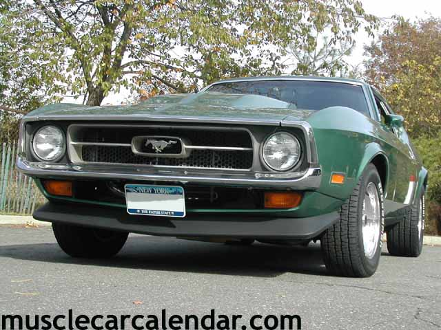 1972 Ford Mustang Front Spoiler Grille Pony Emblem And